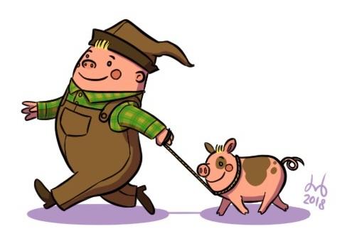 A Boy & His Pig