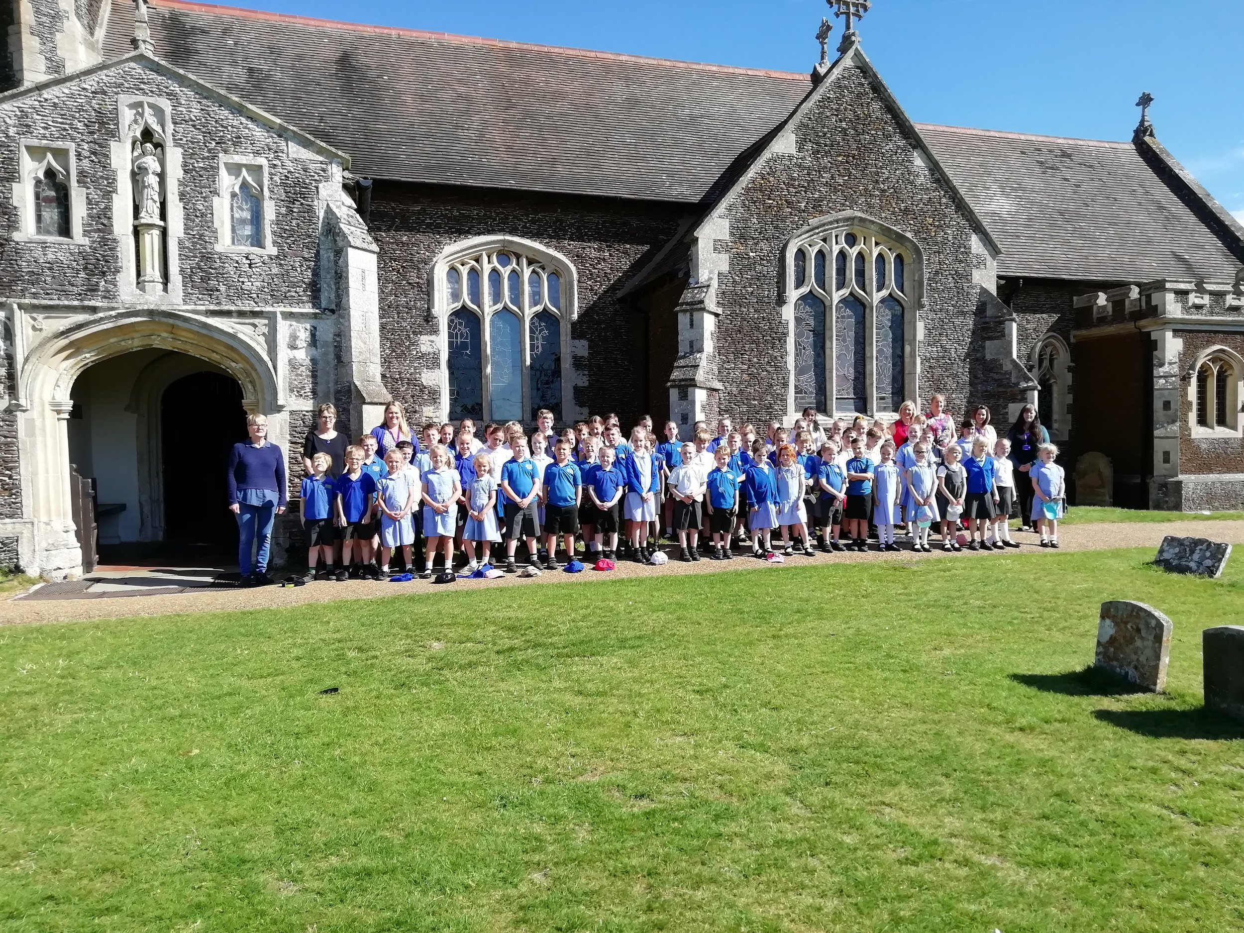 Sandringham and West Newton Church of England Primary Academy visiting St Mary Magdalene, Sandringham for Holy Communion on St Thomas' Day 2019.