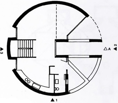 Plan, Bianda Residence by  Mario Botta, from  Precedents in Architecture