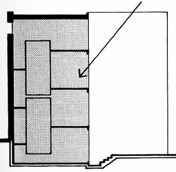 Section, Bianda Residence by Mario Botta from  Precedents in Architecture