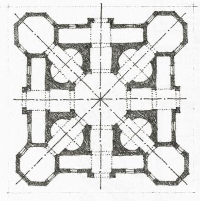 Symmetry Diagram, Church by AntonioFilarete