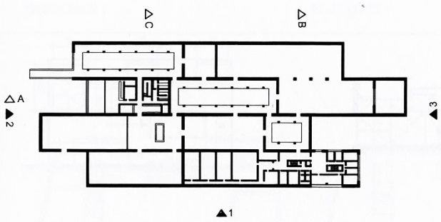 Plan,LiangzhuCultureMuseum by David Chipperfield from  Precedents in Architecture