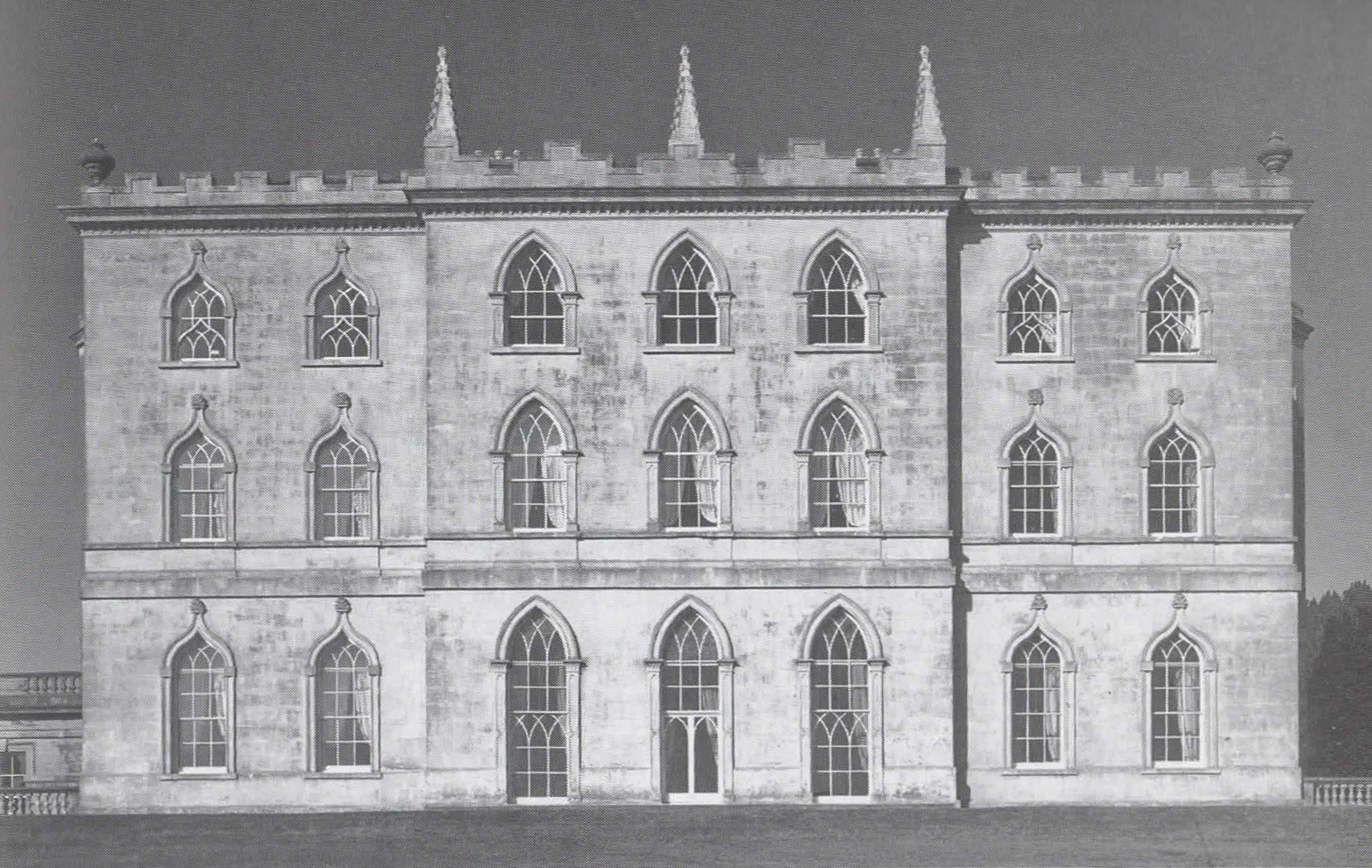 Rear elevation, Castle Ward, Strangford Lough, 1767.