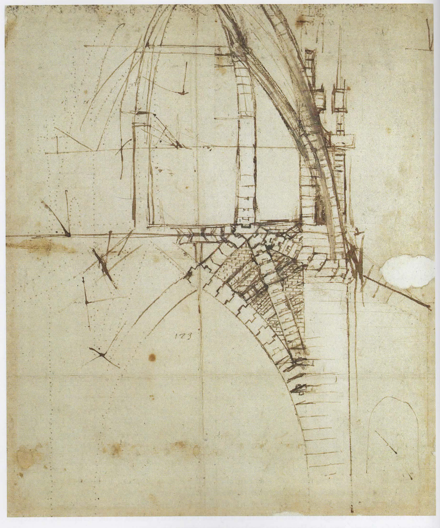 Da Vinci, Leonardo.  Codex Atlanticus, studies for the tiburio of Milan Cathedral. c. 1487 . Drawing. Biblioteca Ambrosiana, Milan, Italy.   Architects' Drawings: A Selection of Sketches by World Famous Architects Through History . Amsterdam: Elsevier/Architectural, 2005. 26. Print.