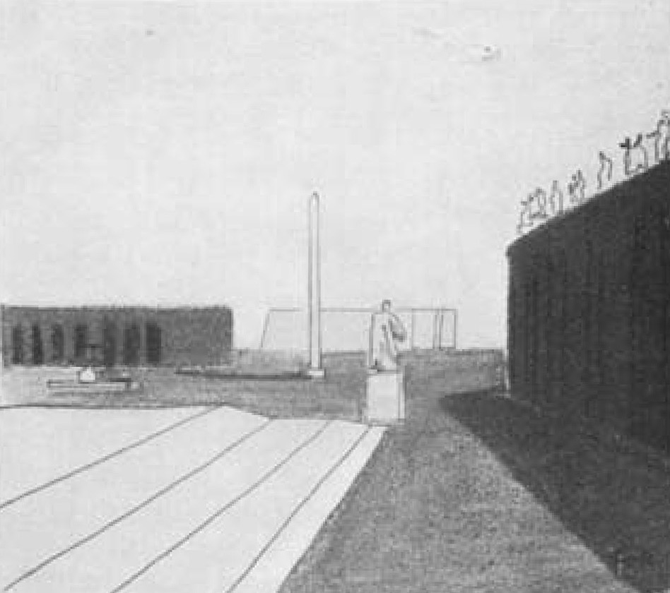 """Kahn, Louis, """"Rome""""from  The Travel Sketches of Louis I. Kahn: An Exhibition Organized   by the Pennsylvania Academy of the Fine Arts,  by Louis Kahn,Vincent Scully, and William Holman, 1978-1979 . Philadelphia: Academy, 1978. p 17."""
