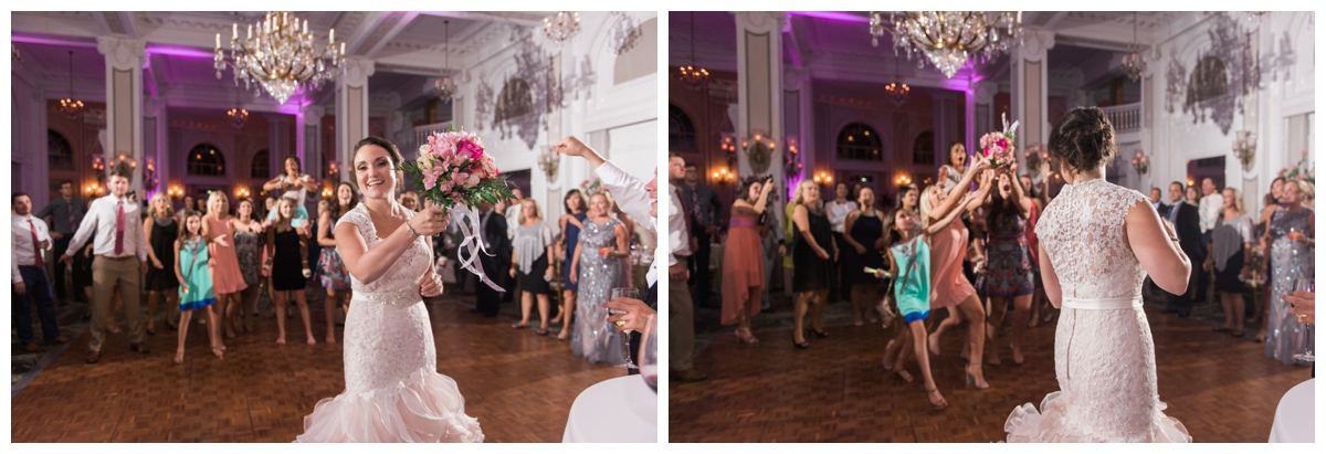 I have never photographed a bouquet toss that was quite this....intense! haha. These girls were serious! Editing these definitely brought a smile to my face!