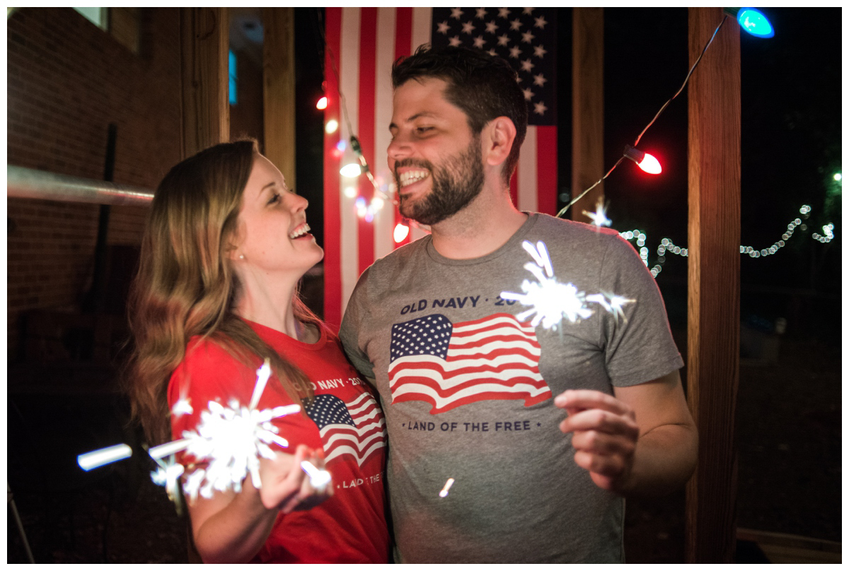We threw an America day party and raised $876 for clean water! Party with a purpose!