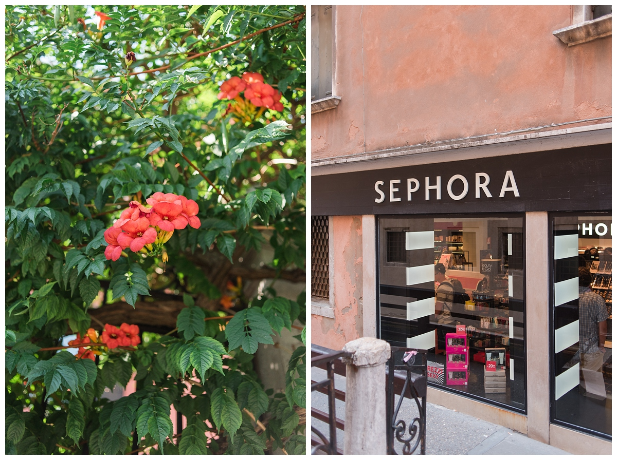 I took this picture to specifically show my friend, Caroline. Sephora is everywhere in Italy! Even the train stations!