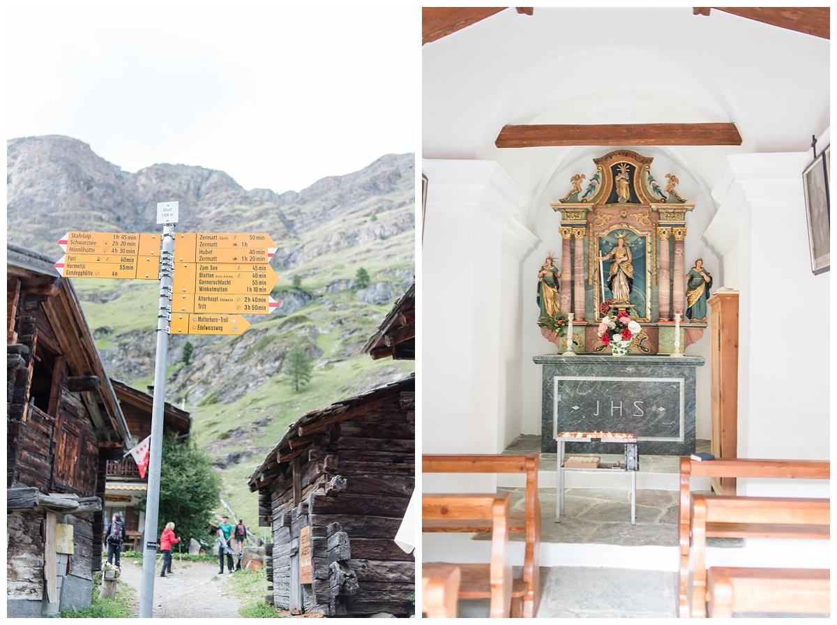 Inside the little chapel in the village