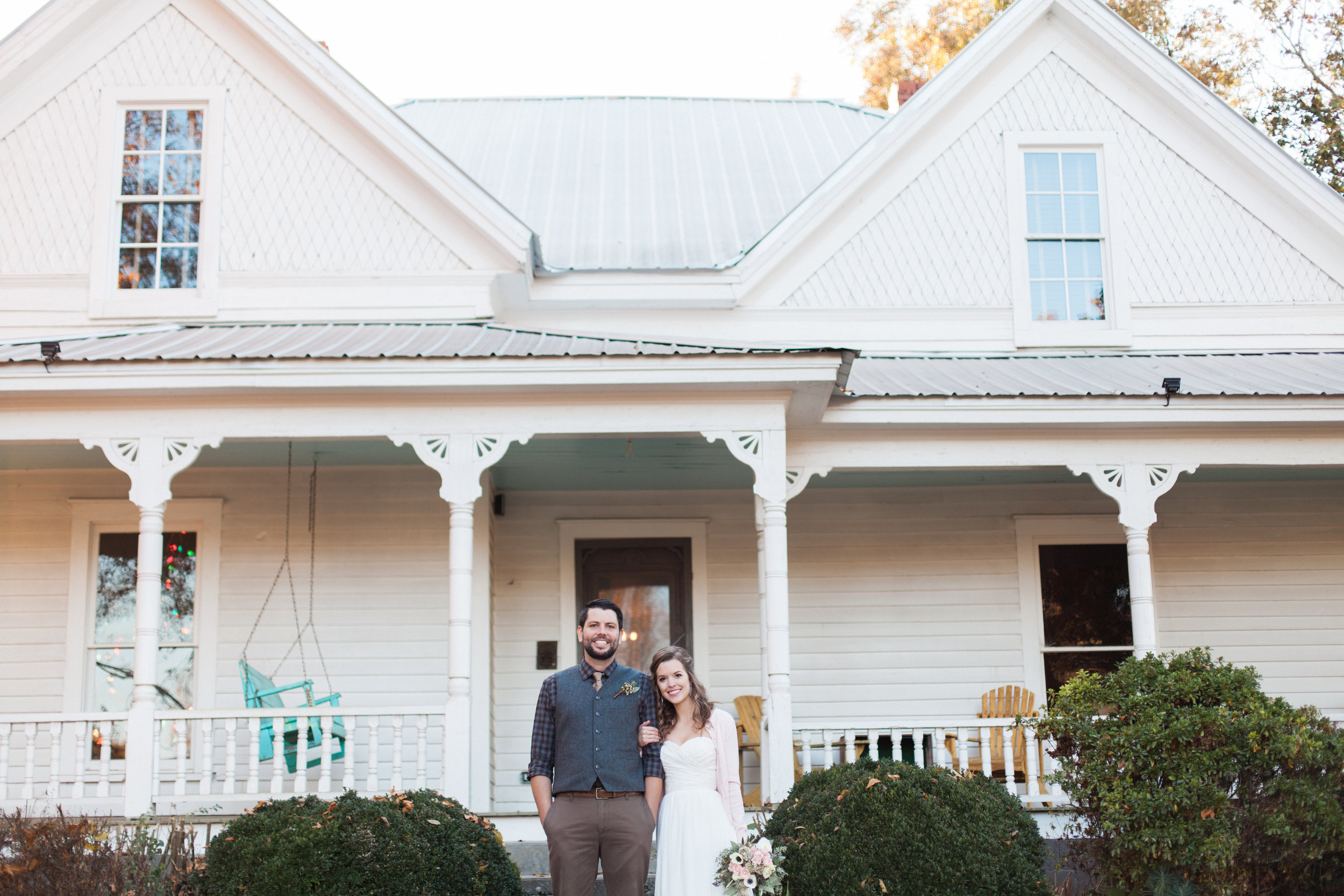 Here's us in one of our wedding photos! We had a November wedding and loved it! pc: Jessica Pendley Photography