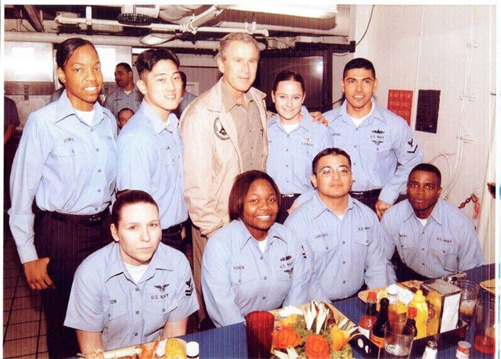 President Bush Navy visit.jpg