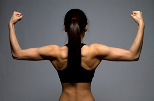 back strong stretch arms shoulders female women strong flex