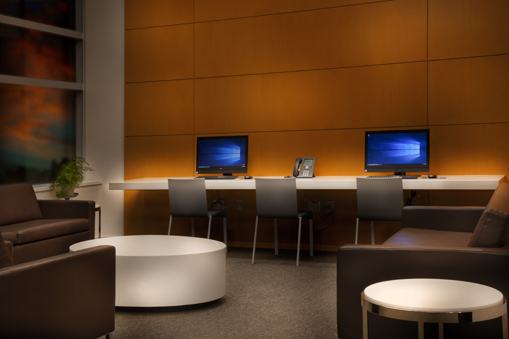 Procedure Waiting Area (featuring computers for visitor/family use)
