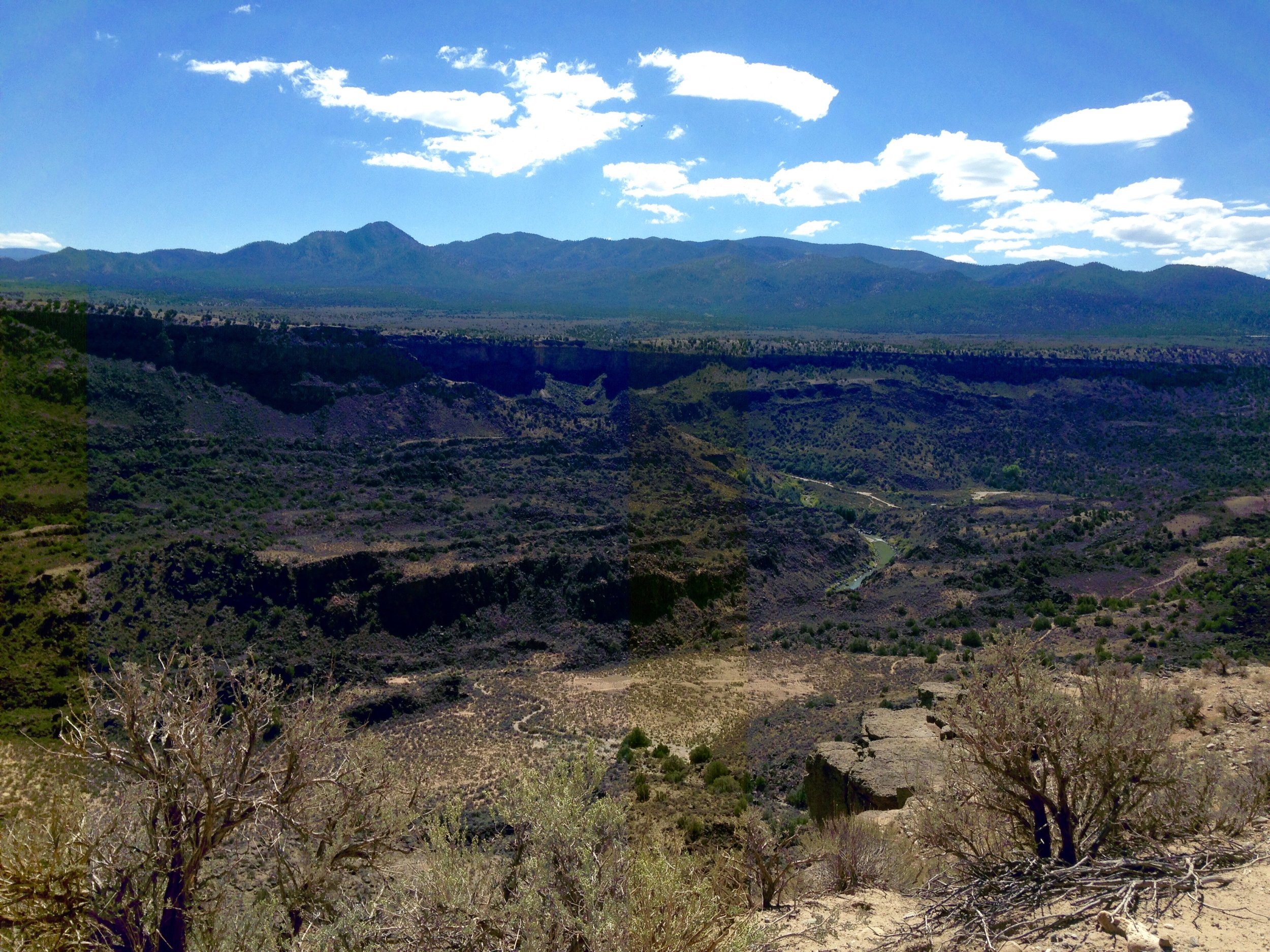 Listening to the song coming out of the earth's womb, Taos Gorge, New Mexico