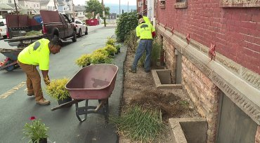 Paramo Landscaping Inc, donating Landscaping services to All Saints Academy in Scranton, PA.