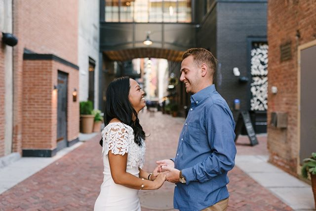 For Lauren and Logan's engagement session we went back to the spot where they had one of their first dates.