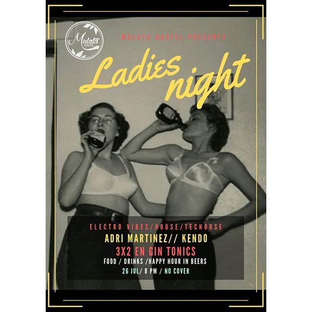 ¡Hoy! 8PM ** Noche de chicas, buena música y Gin Tonics para empezar este finde ** No cover, nos vemos esta noche 😉😎💃🍹🍹🍹