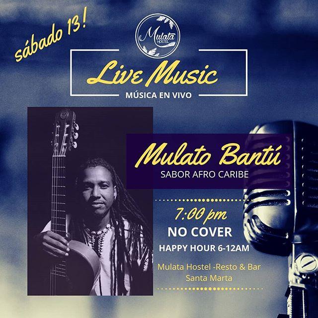 #livemusic Hoy a partir de 7PM con @mulatobantu y @latumb4. ¡Pura Sabrosura! Entrada libre, los esperamos! 👌😉💃🎤🎶🎵🎶🎤