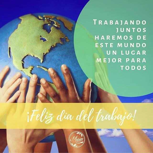 """""""Para los que trabajan con las manos, para los que trabajan con la cabeza, para los que ponen el alma y el cuerpo, para los que sueñan construir un mundo mejor... ¡FELIZ DIA DEL TRABAJADOR!....¡Gracias a todos ellos, gracias a los nuestros! 💚💪 #diadeltrabajo #1demayo"""