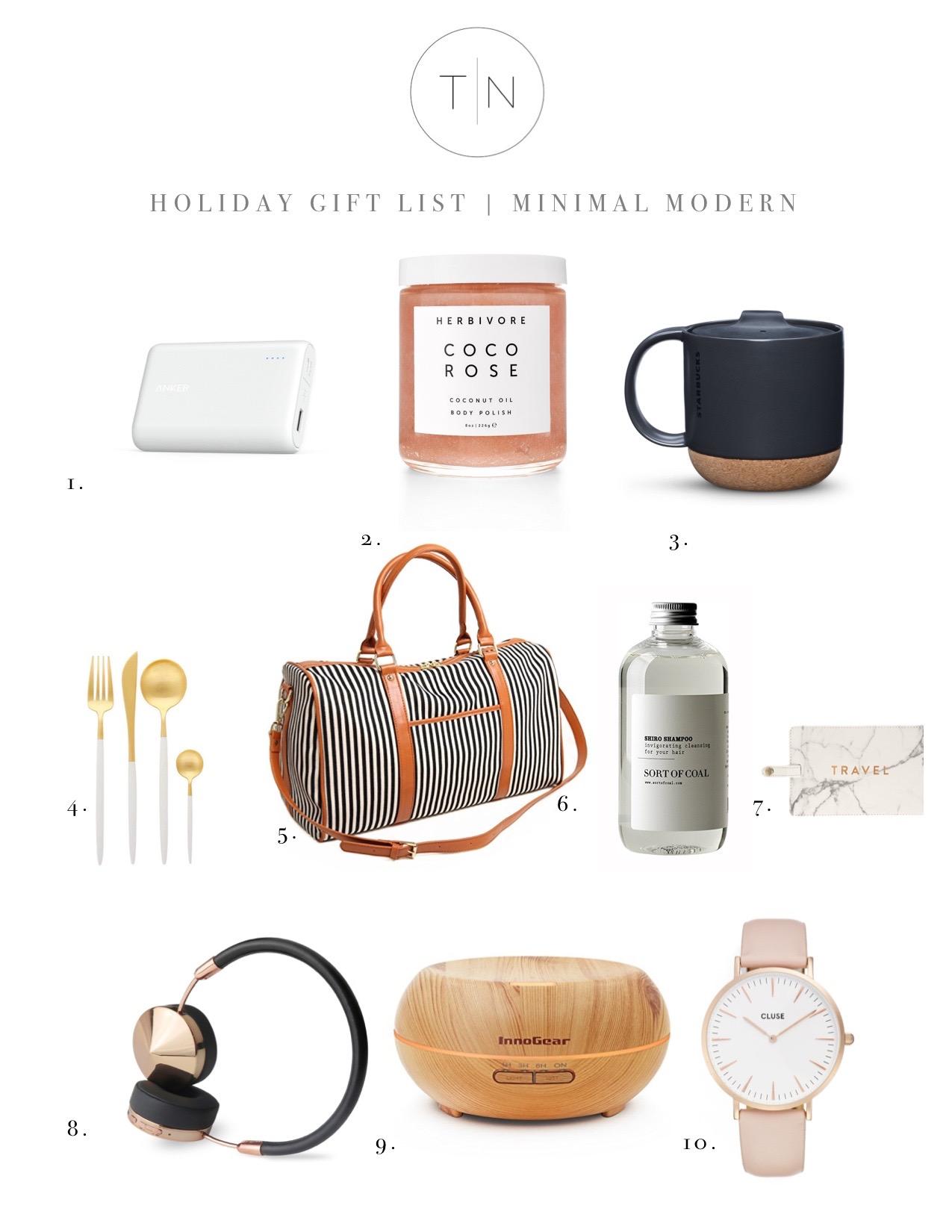Holiday Gift List | Minimal Modern