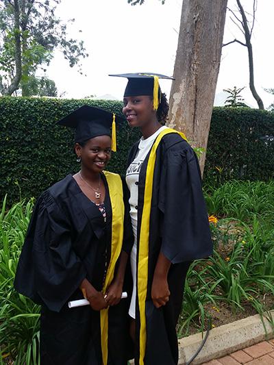 Uwizero Lydia (left) and Umutoniwase Fiette (right)