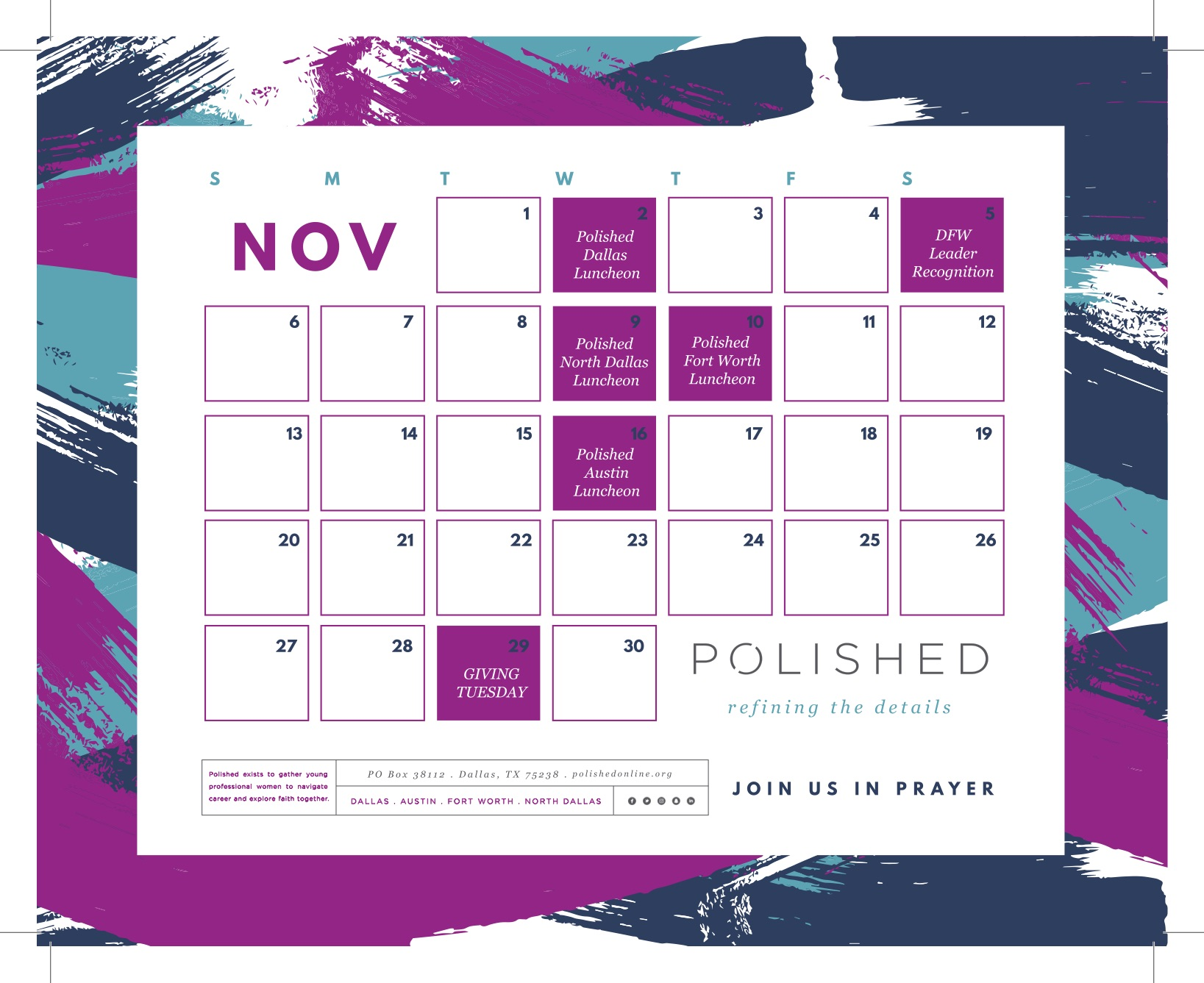 Click on the image above to download the November Prayer Calendar