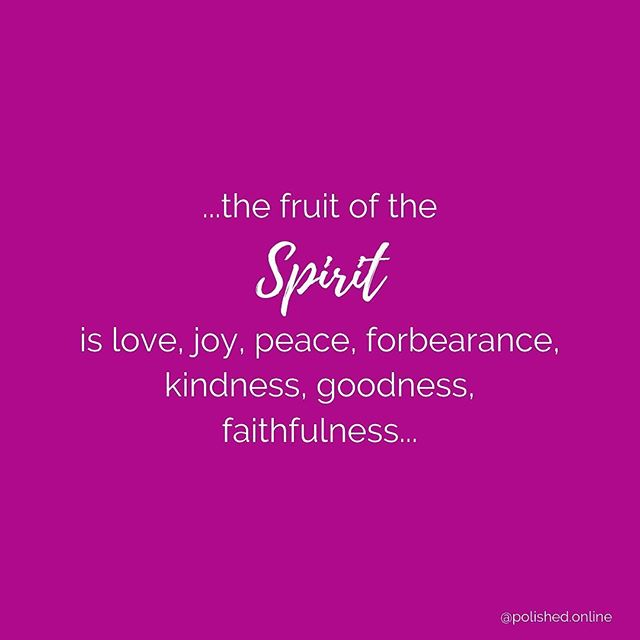 """Love. Joy. Peace. Forbearance. Kindness. Goodness. Faithfulness. ✨ This Monday, we are reflecting on the reminder from Galatians 5:22 about the Holy Spirit. """"But the fruit of the Spirit is love, joy, peace, forbearance, kindness, goodness, faithfulness."""" ✨ We know you may be getting back into the routine of getting kids up and ready for school, maybe you are back from a vacay, settling into a new job...whatever that may be...don't let overwhelm get the better of you. Be reminded of the Spirit and that it lives within YOU! ✨ Happy Monday friend!"""