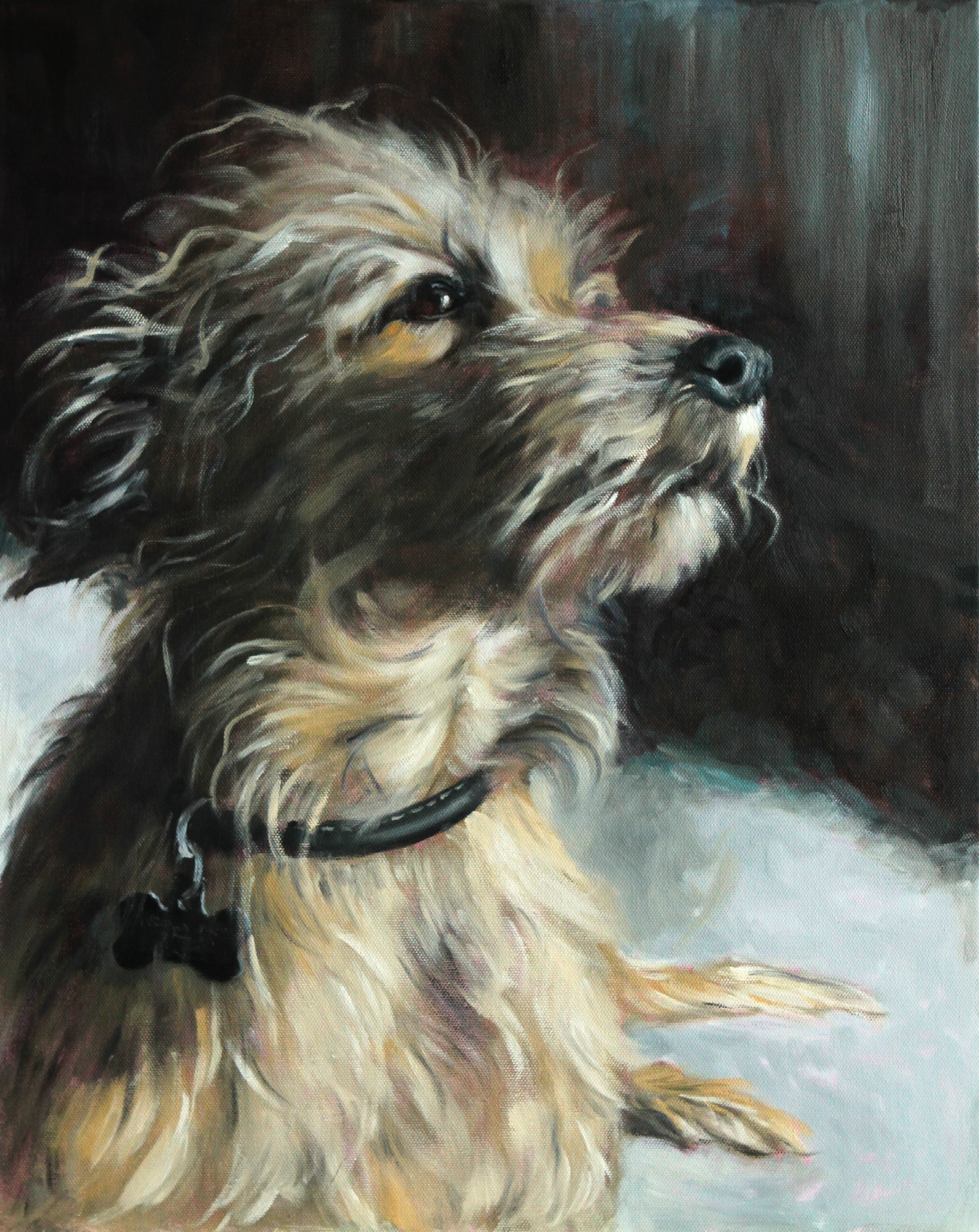 """Charlie"", previous commission, oil on canvas, 16 in x 20 in."