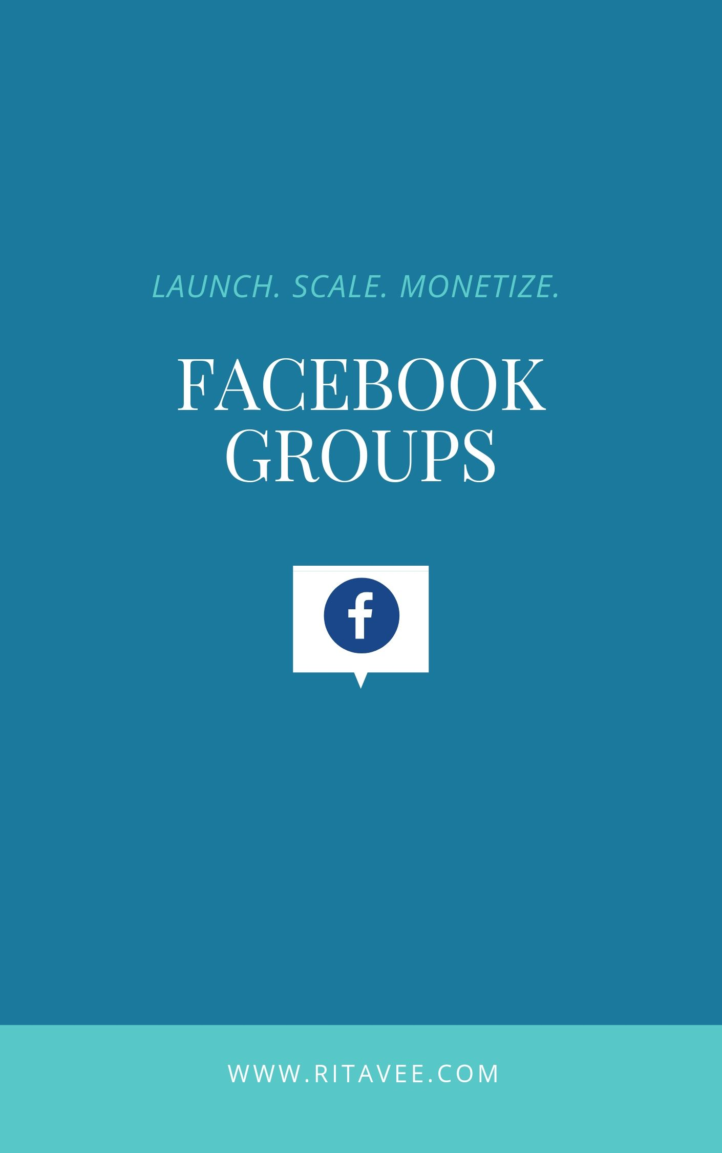 Learn how to optimize and monetize your group - with my easy to follow Facebook Group Workbook