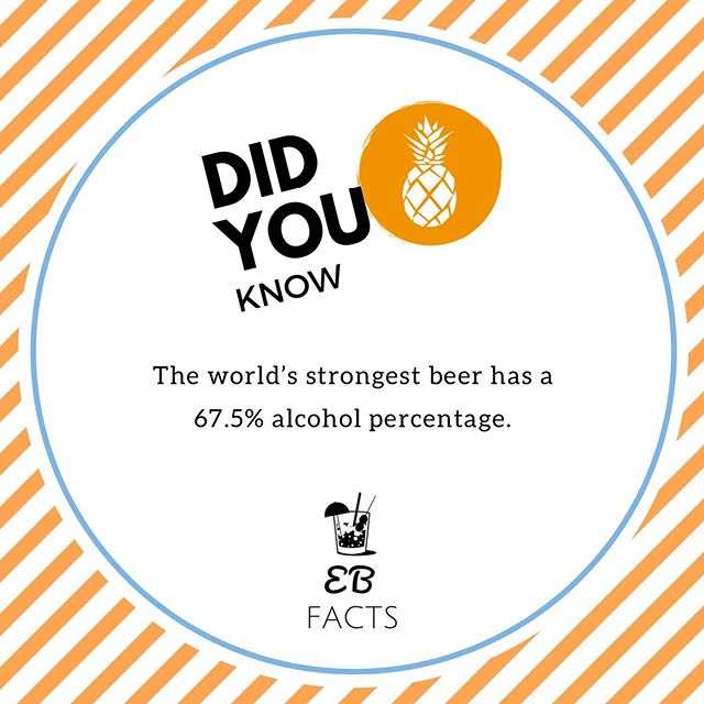 Did you know that the worlds strongest beer has a 67.5% alcohol percentage? 😱