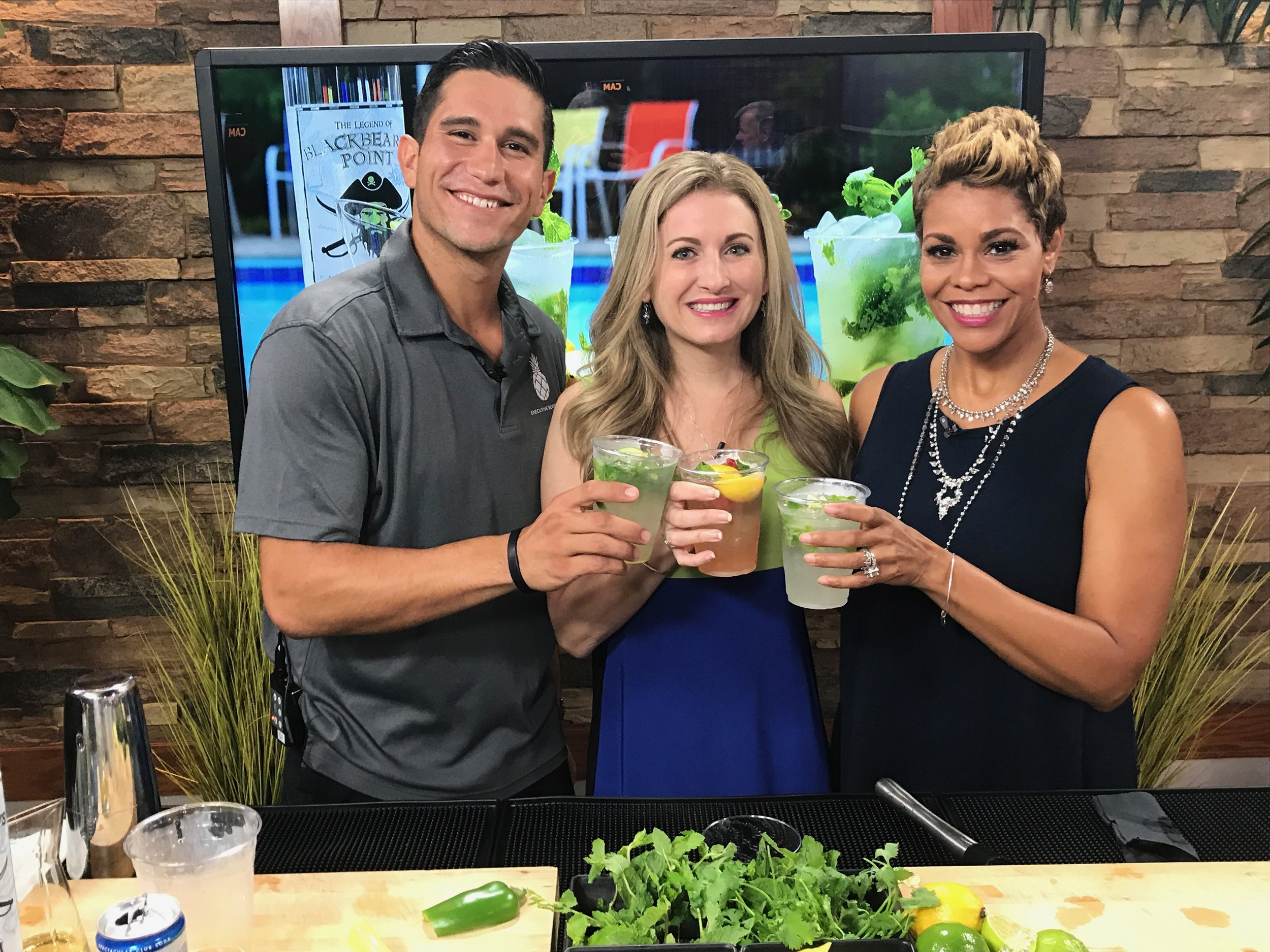 Making Mojitos for National Rum Day on Coast Live! -