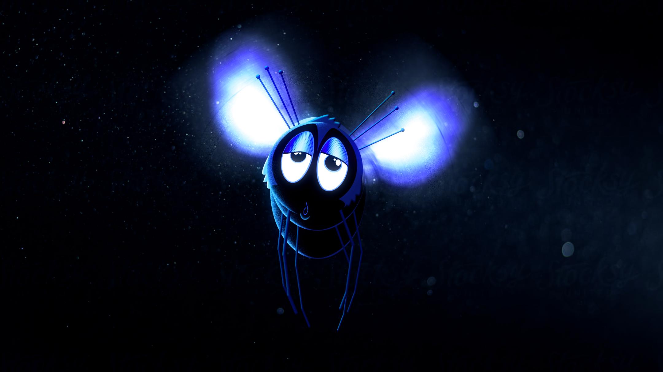 A dazed housefly.