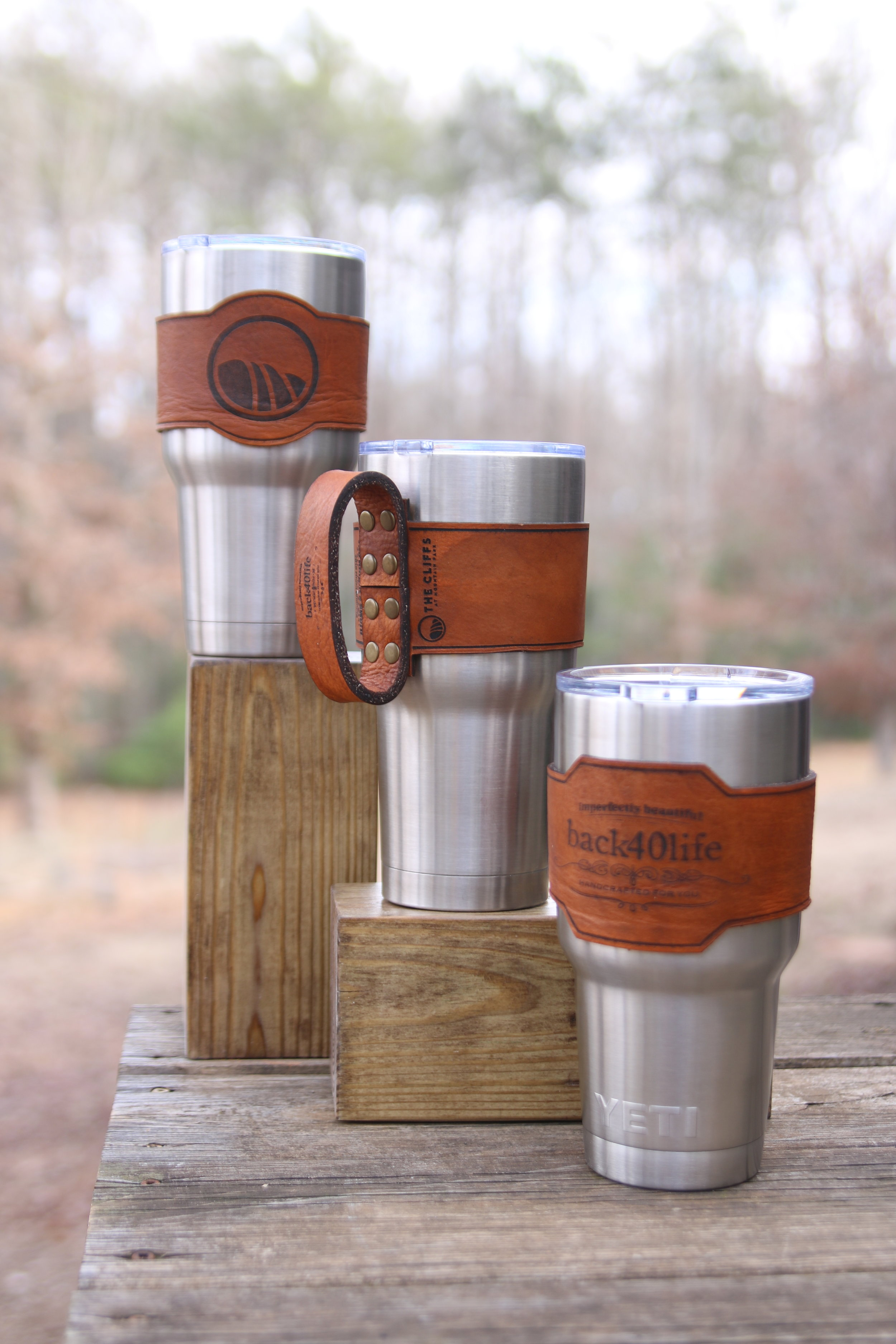 Leather Sleeve to fit 30oz Yeti - $35/$40