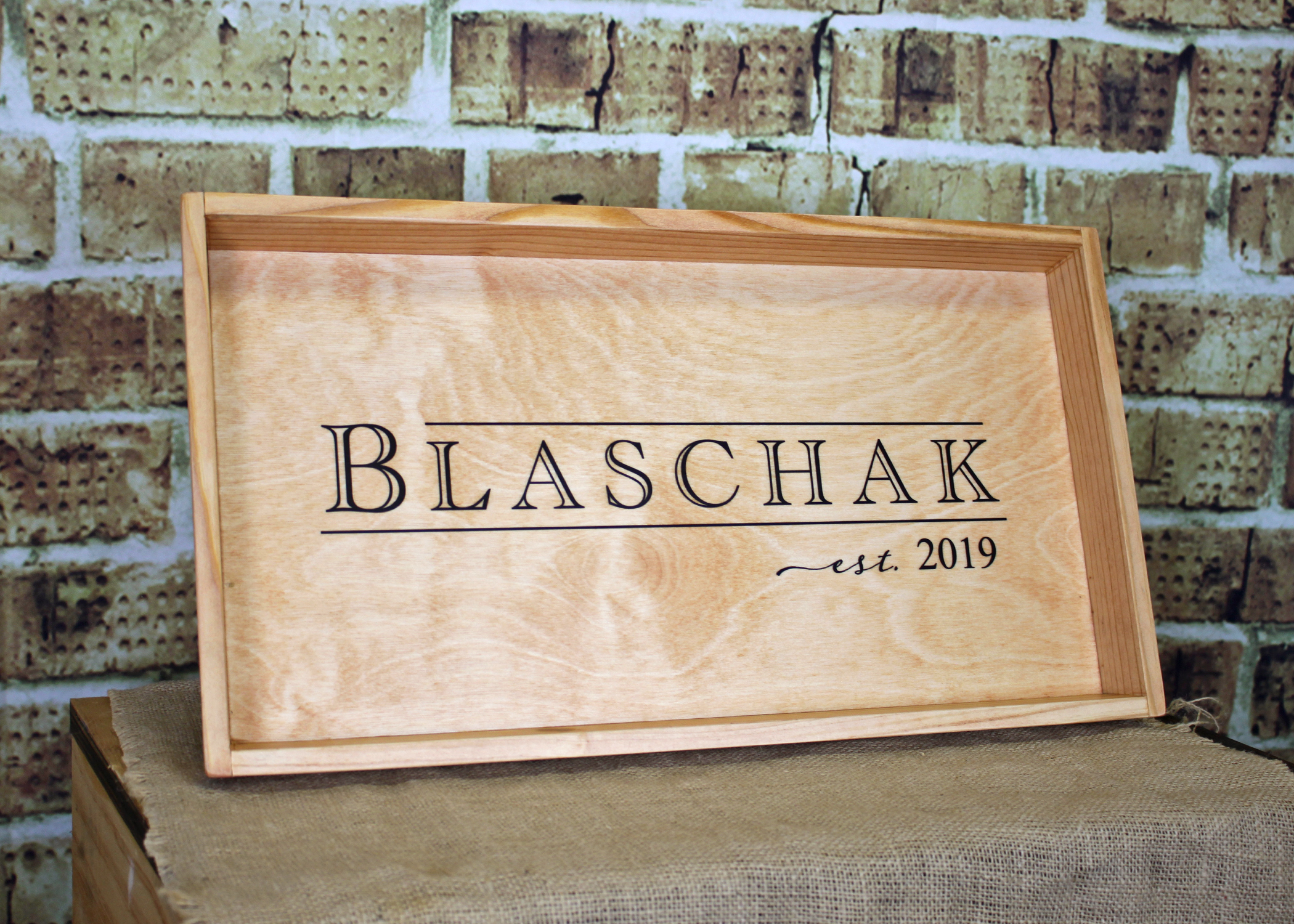 Wood Tray - painted with flared sides and 1 logo - $65 (minimum quantity 5)
