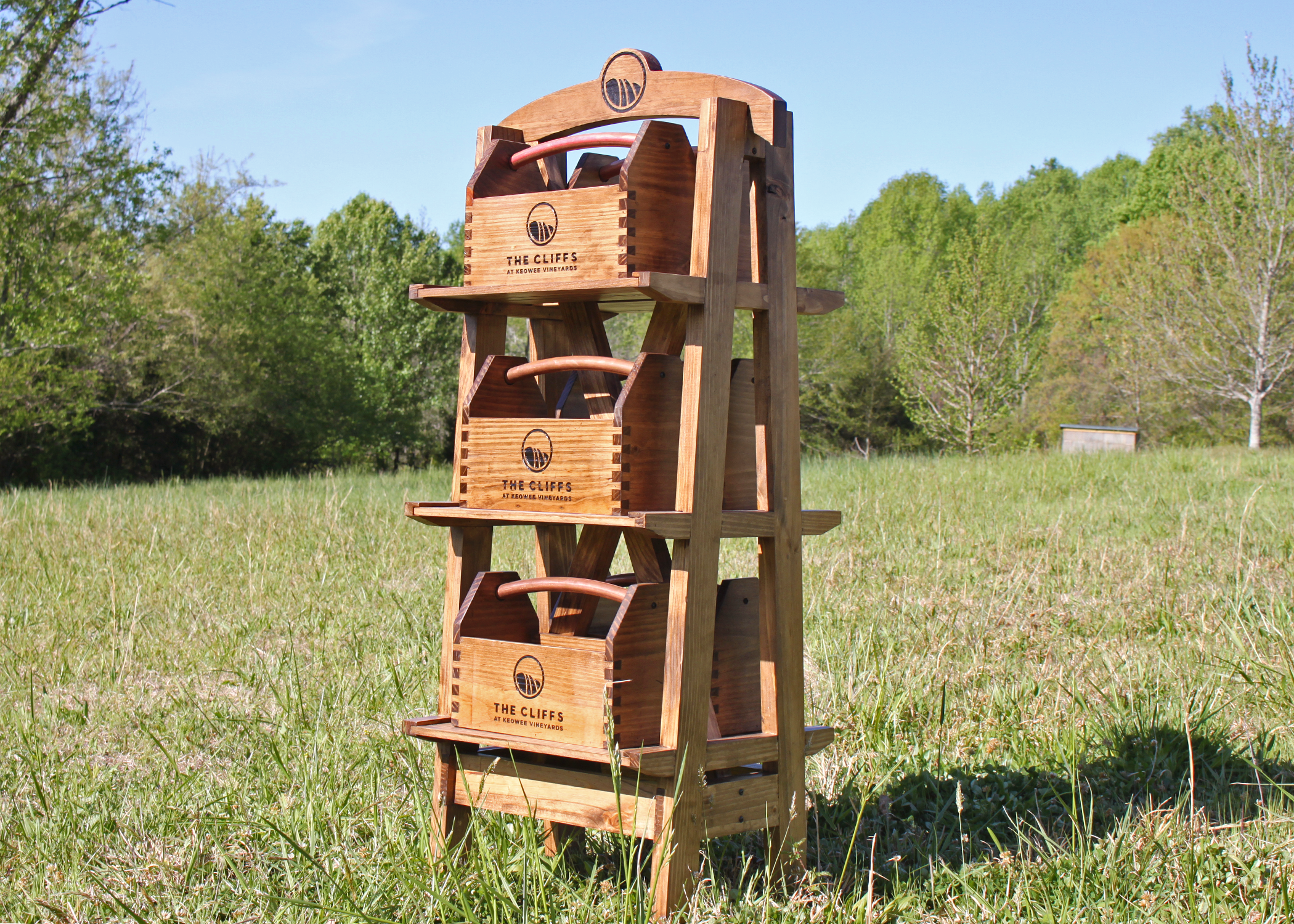 Field Stand - holds 6 ball totes (sold separately); includes logo on 2 sides - $375