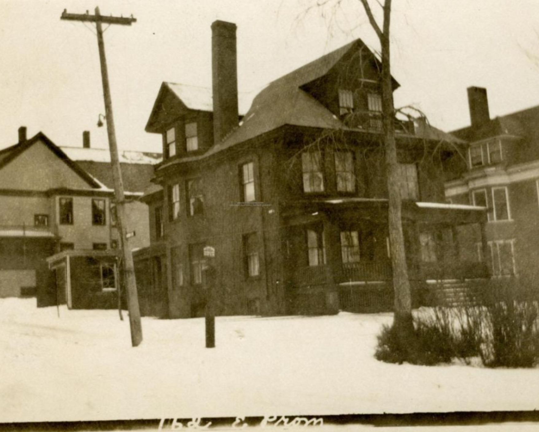 The Sacknoff estate during the winter of 1924.