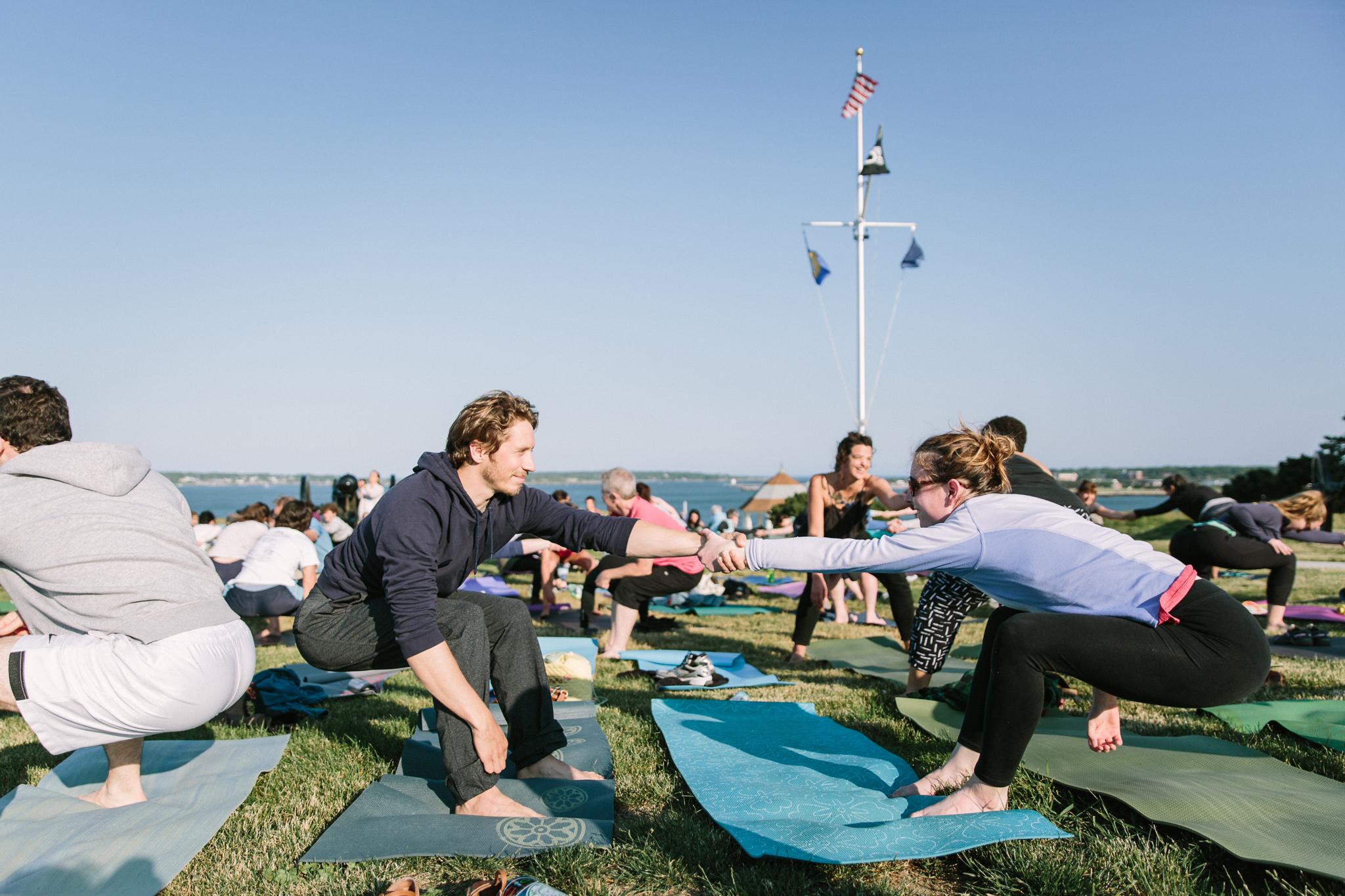 Over 70 people attended the recent Summer Solstice celebration at Fort Allen Park.  Photos: Courtney Elizabeth