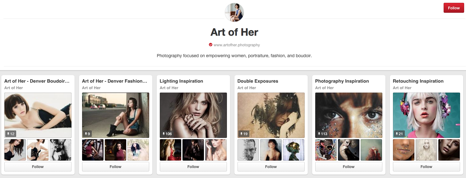 empowering photography pinterest page
