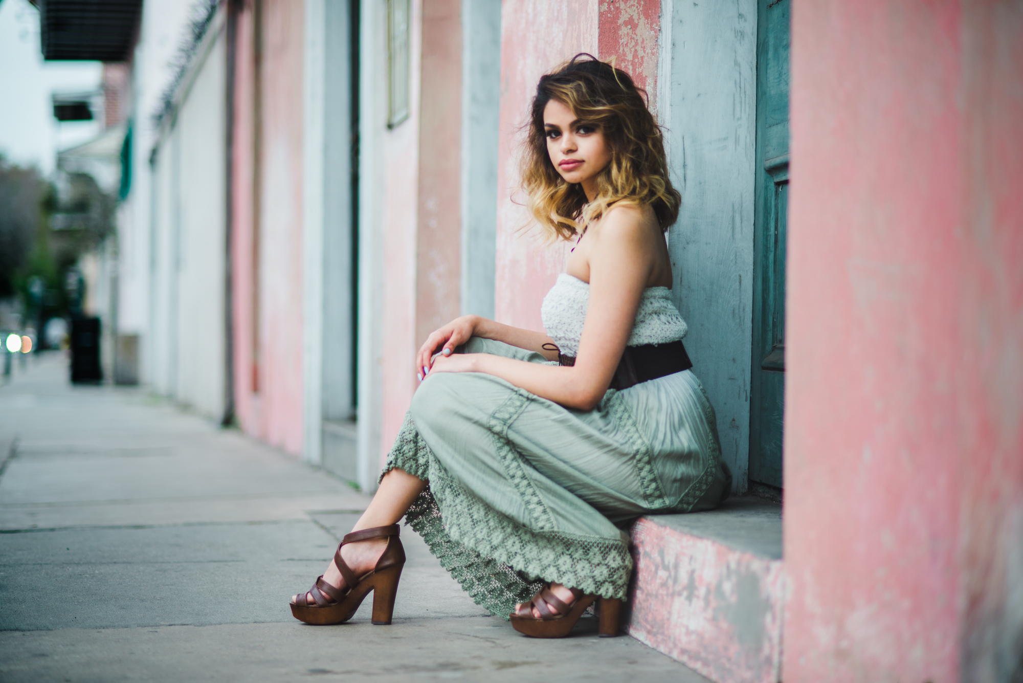 New Orleans Fashion Photoshoot in the French Quarter Dauphine Street