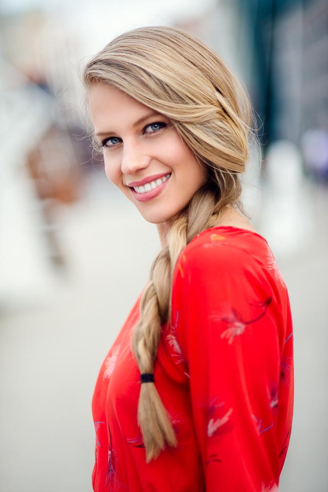 Wilhelmina Denver Model Millenium Bridge Photoshoot