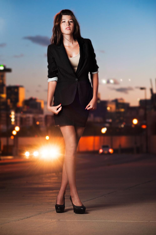 Sunset Denver City portrait photography