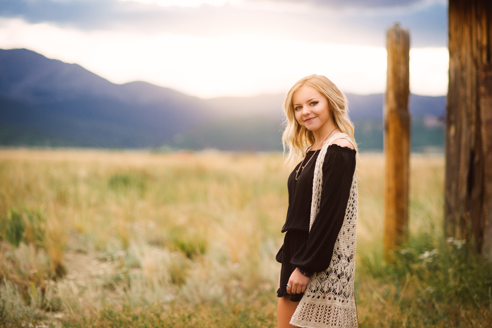 Denver senior portrait photography in the mountains