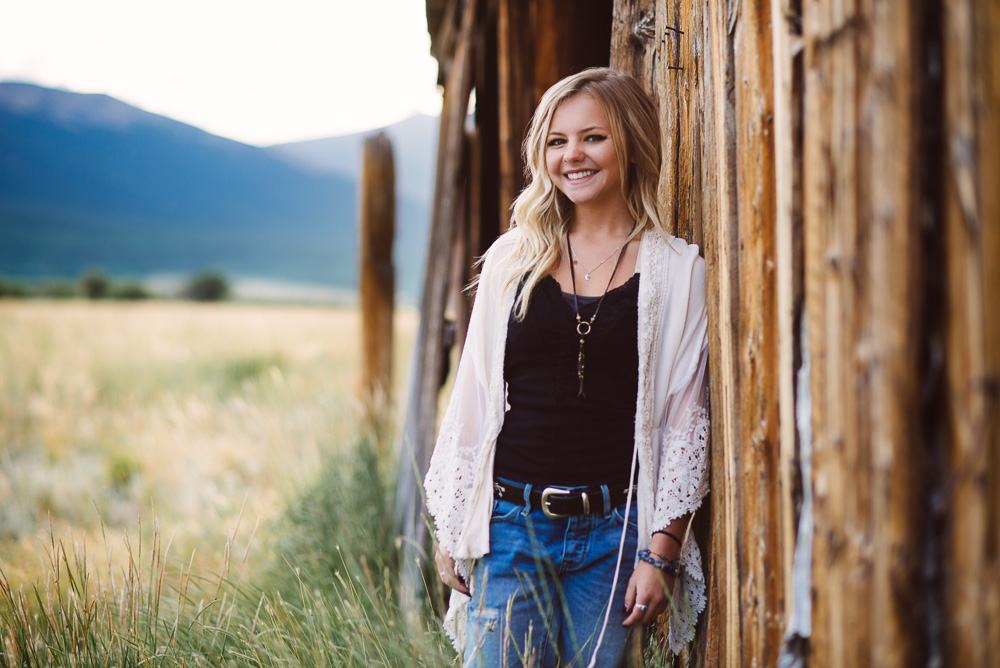 Colorado mountains senior portrait photographer