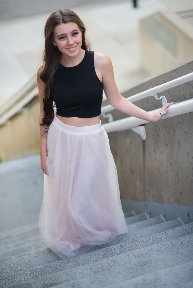 Images for a senior picture shoot for a dancer in Denver
