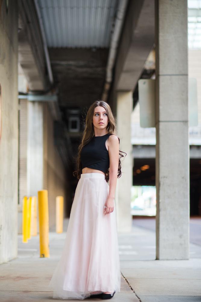Senior pictures for a dancer in downtown Denver