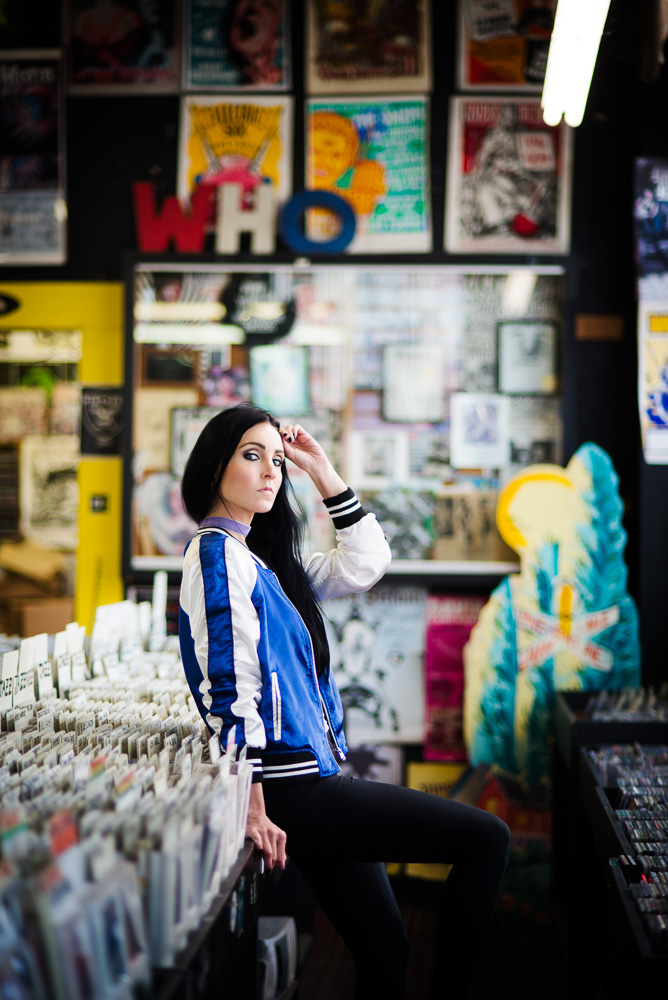 Denver portrait photography at wax trax