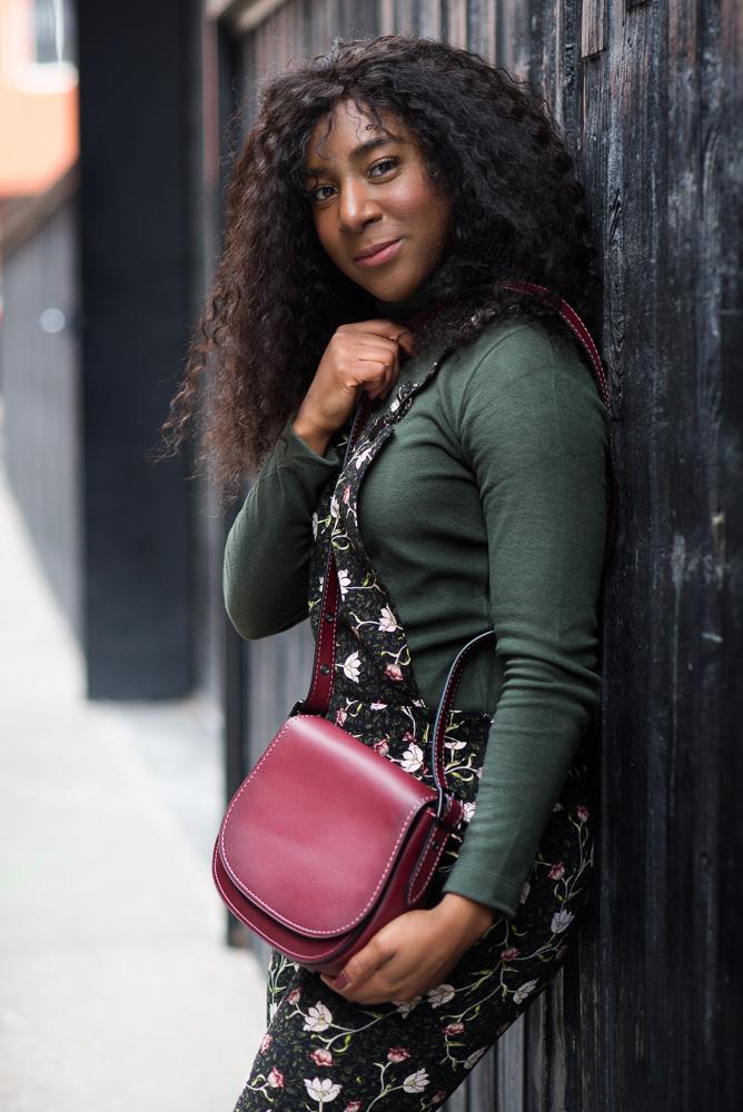 fashion blogger purse coach photoshoot