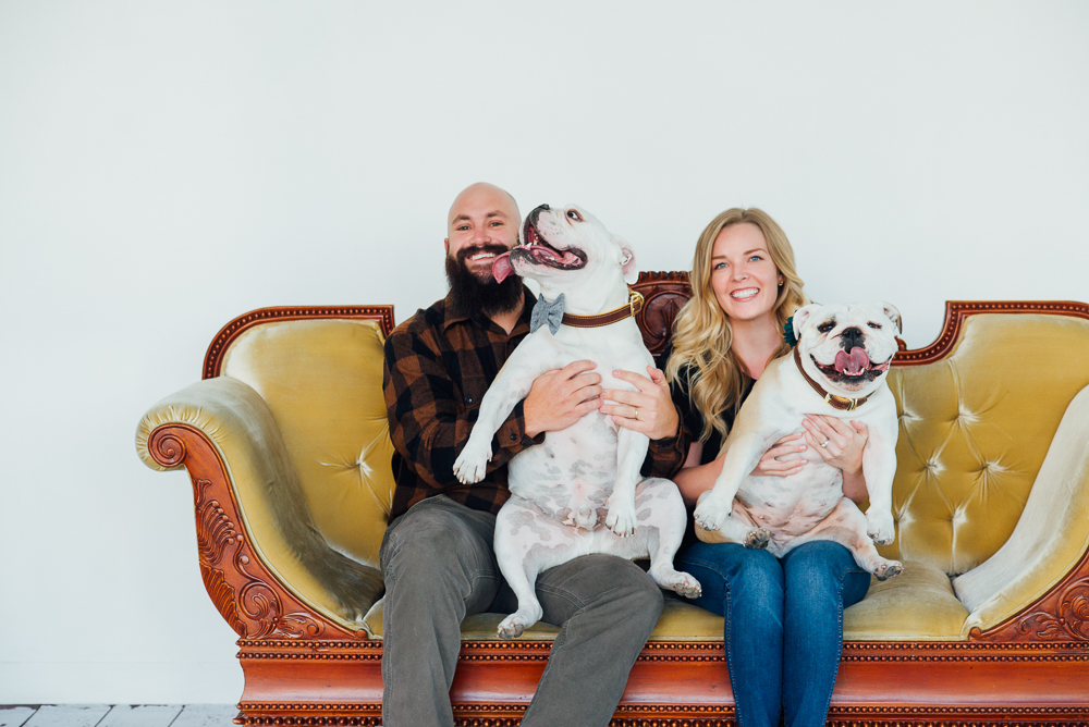Family photographer with dogs