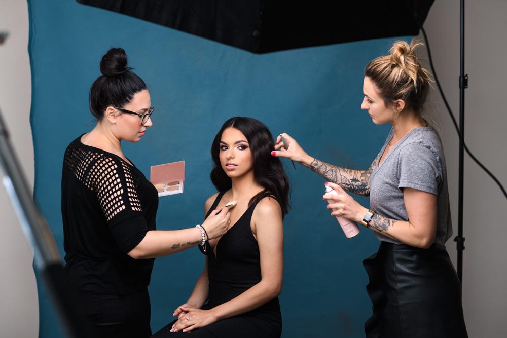 behind the scenes photoshoot hair and makeup