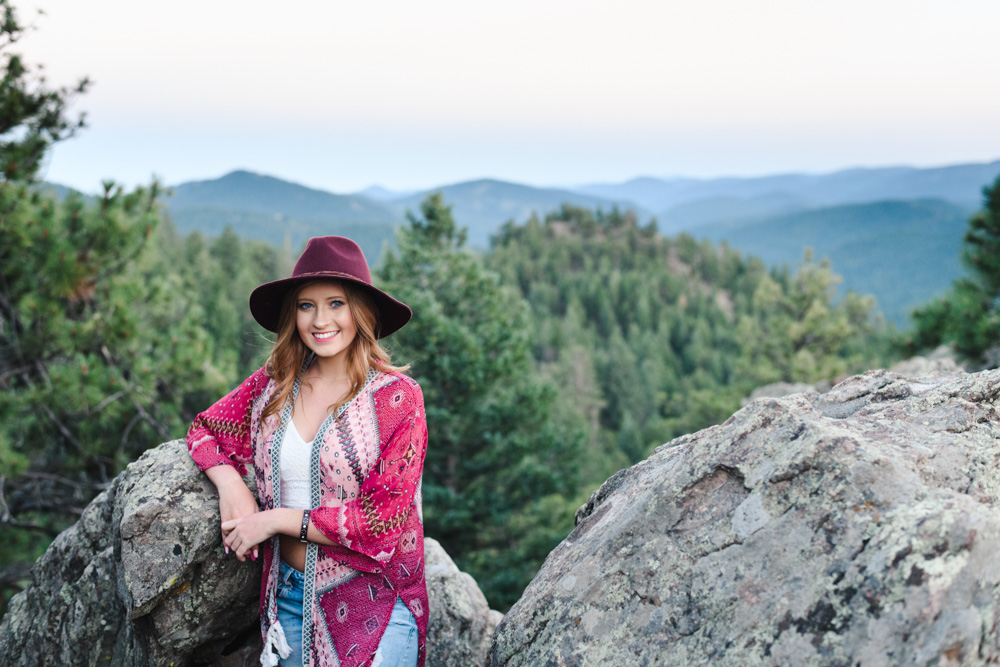 Denver senior pictures in the mountains